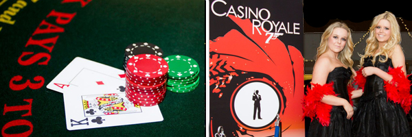 Fun Casino hire and James Bond themeing package