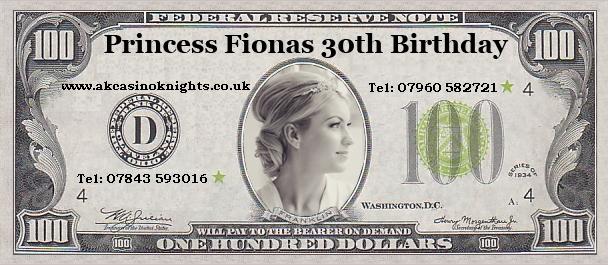 Princess fionas Birthday money