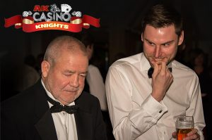 People playing blackjack at A K Casino Knights fun casino