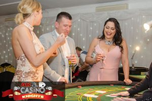 lovely guests having fun at the blackjack table