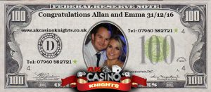 Personalised fun casino money for weddings