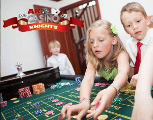 Children playing roulette for entertainment
