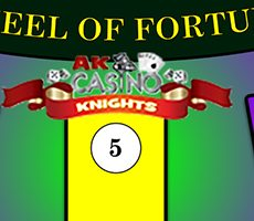 Wheel of fortune game hire at A K Casino Knights