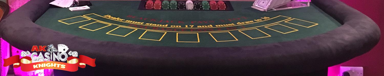 Casino hire West Sussex, blackjack table hire