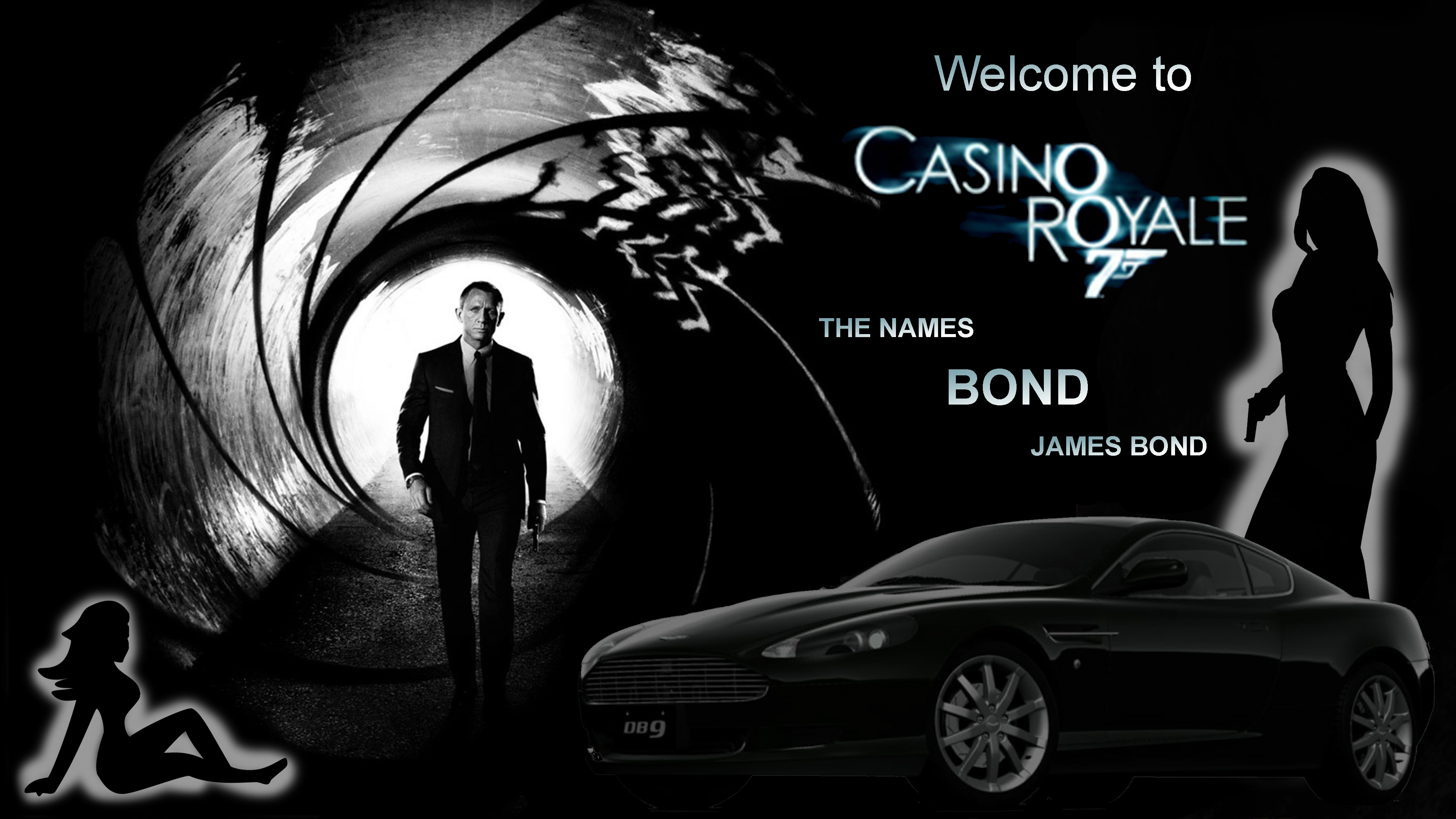 Hire your Bond theme backdrops at A K Casino Knights