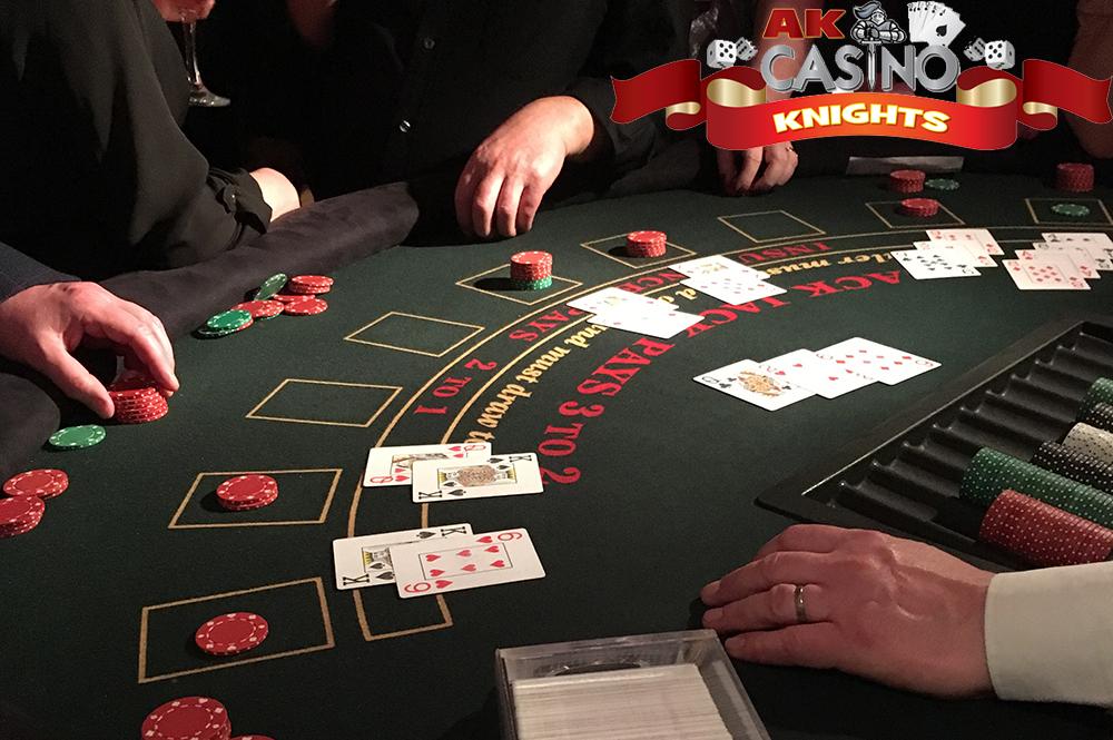 A K Casino Knights playing blackjack