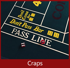 Craps table hire at A K Casino Knights