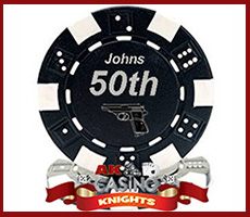 A k Casino Knights fun personalised chips