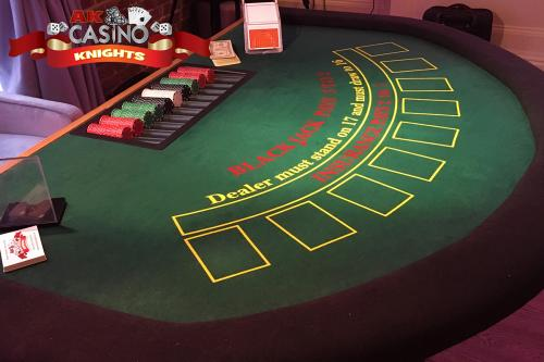 A K Casino Knights Kent party casino hire for Weddings